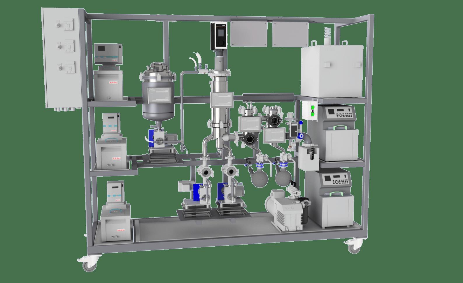 VKS 95 wiped film short path distillation system